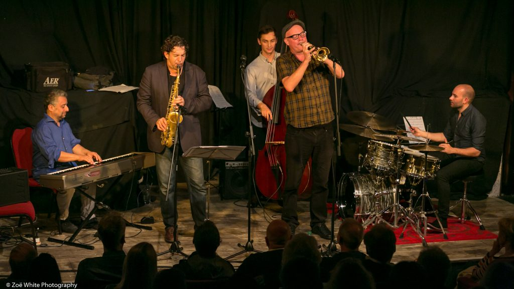 Recent Jazz at Progress | Christian Brewer Quintet (Photo by Zoë White)