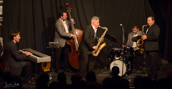 "Previous Jazz at Progress | Ray Gelato & Alex Garnett ""Tough Tenors"" Quintet  (Photo by Zoë White)"