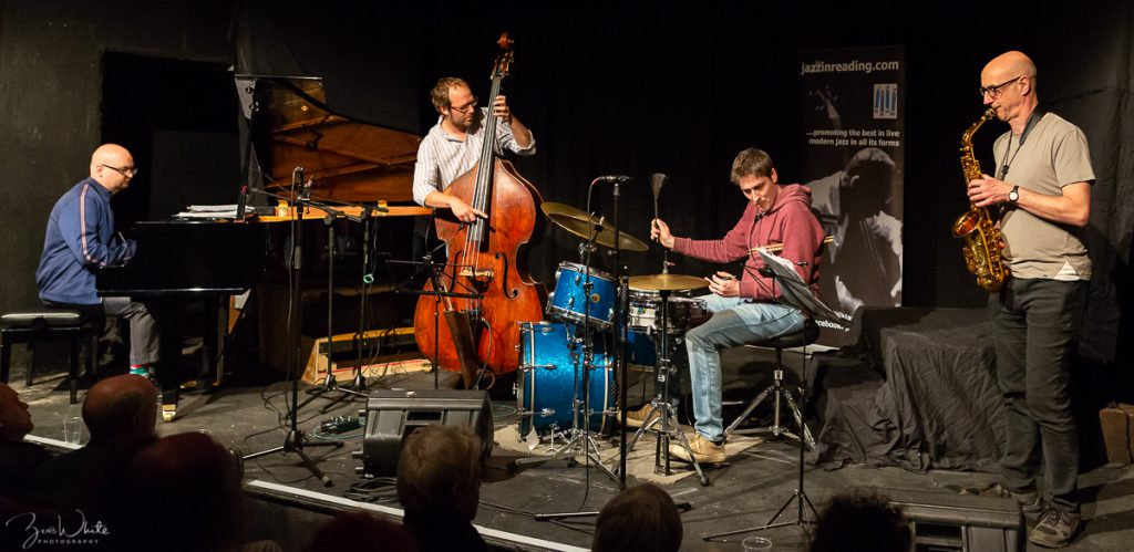 Recent Jazz at Progress | Martin Speake Quartet ft. Ethan Iverson (Photo by Zoë White)