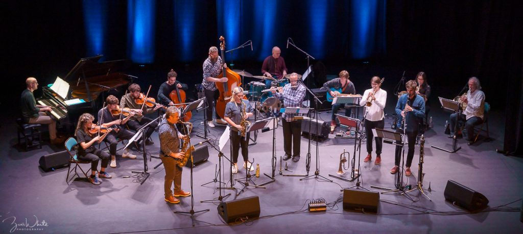 Recent jazz at South Hill Arts Centre, Bracknell Friday 27 September | Mark Lockheart's Orchestral Jazz Suite 'Days on Earth' | (Photo by Zoë White)