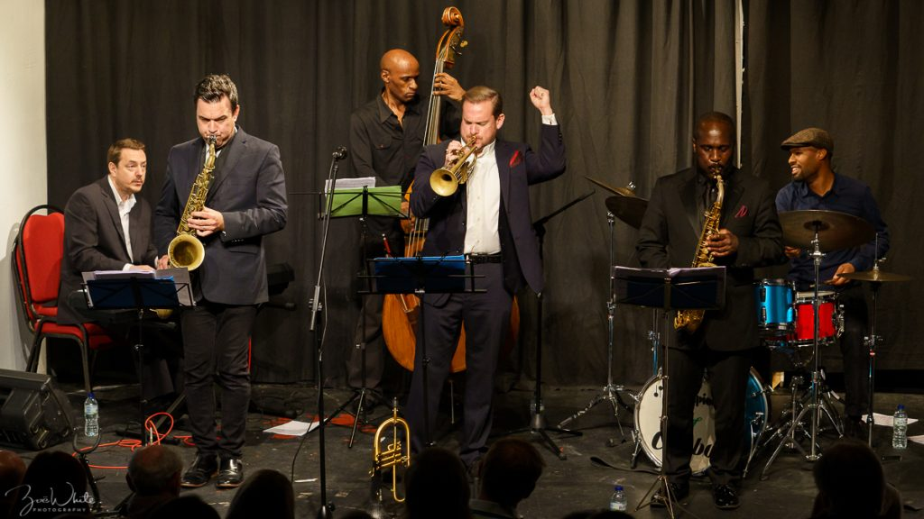 Recent jazz at Progress | Quentin Collins Sextet (photo by Zoë White)