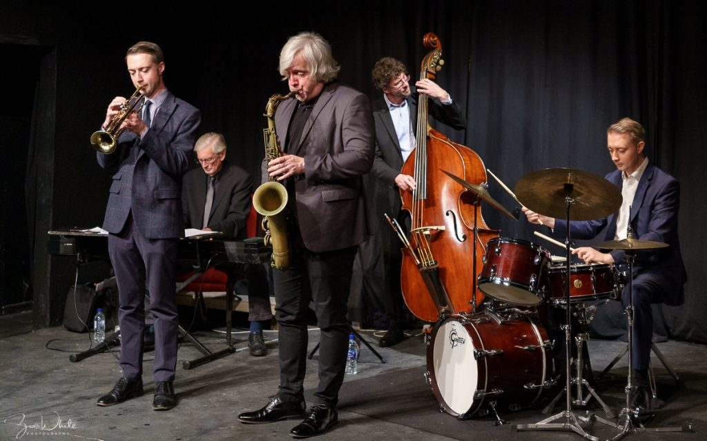 Recent Jazz at Progress | Steve Fishwick Quintet with special guest Grant Stewart (Photo by Zoë White)