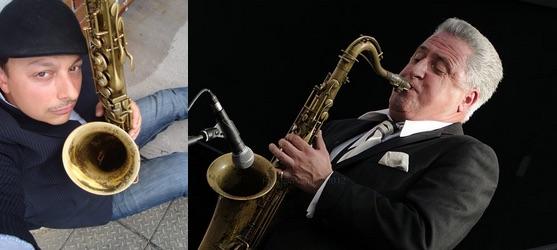 """Coming 27 October to Jazz at Progress   Ray Gelato & Alex Garnett """"Tough Tenors"""" Quintet"""