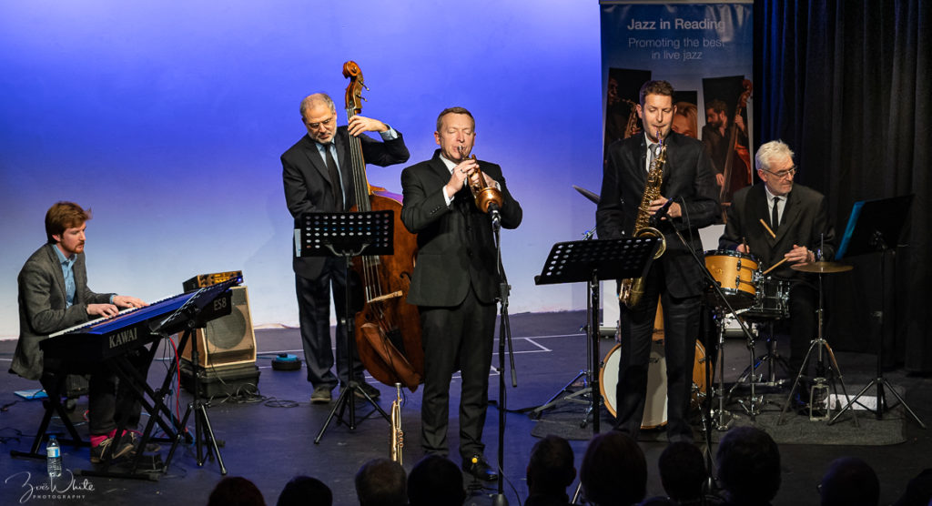 Recent Jazz at Progress | Stuart Henderson Quintet celebrates Blue Note (photo by Zoë White)