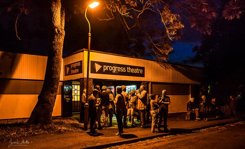 Jazz lovers in the interval break at the Progress – photo by Zoë White