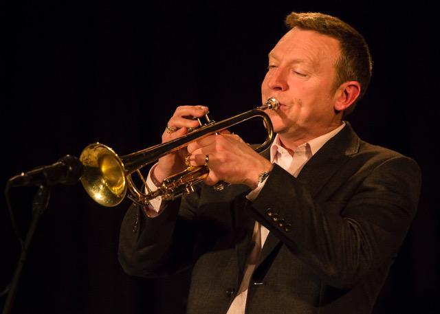 Recently at the Reading Fringe Festival | Stuart Henderson with the Reading Dusseldorf Jazz Ensemble (Photo by Zoë White)