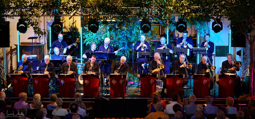 Recent Jazz in Reading concert at the Reading Fringe Festival: Stuart Henderson and The Remix Jazz Orchestra playing 'The Evolution of the Big Band - from the Birth of Jazz' (Photo by Zoë White)