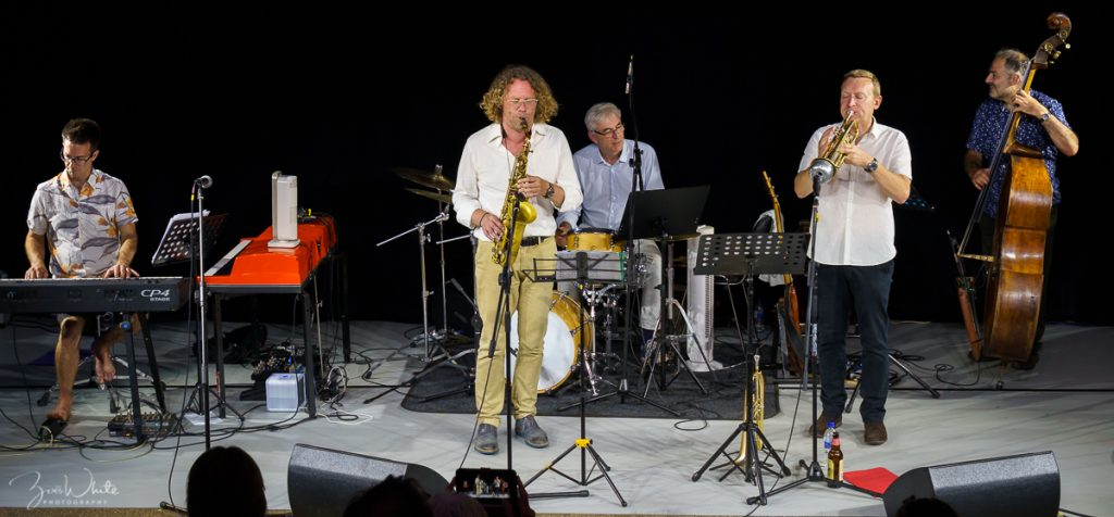 At the 2018 Reading Fringe Festival | Stuart Henderson with the Reading Dusseldorf Jazz Ensemble (Photo by Zoë White)